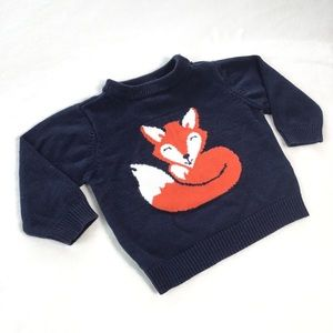 4/25$ 🦋 Children's Place fox sweater
